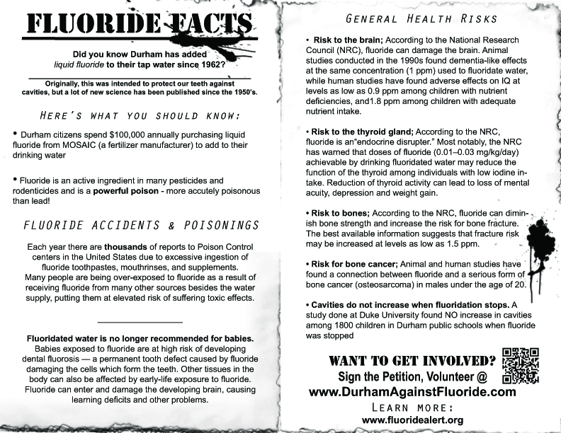 Join the fight! | DURHAM AGAINST FLUORIDE