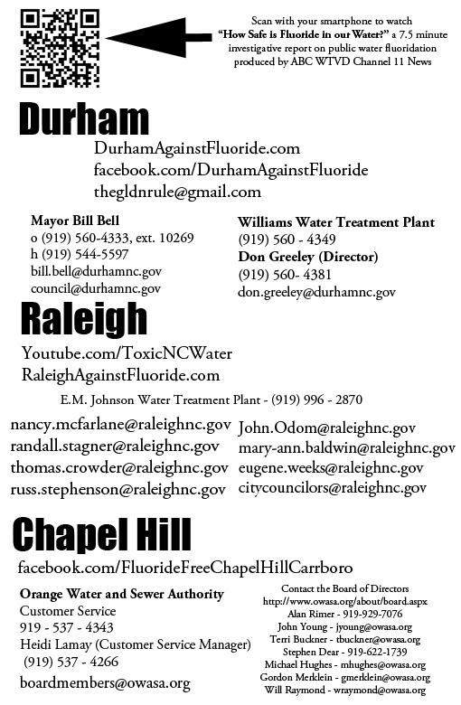 Join The Fight Durham Against Fluoride